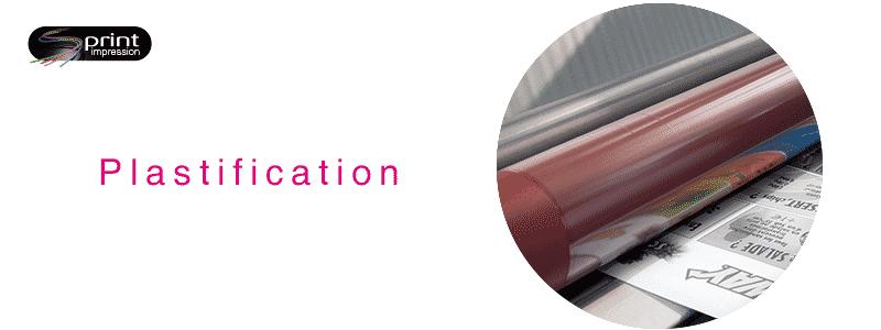 Plastification - Imprimeur - Gammes de produits - Impression - Sprint Impression