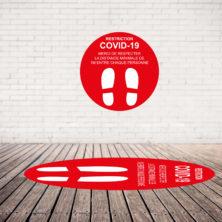 Sticker de Marquage au Sol aux Normes CE (COVID-19)